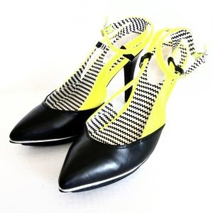 Mark. High Heels Shoes funky pop Size 8